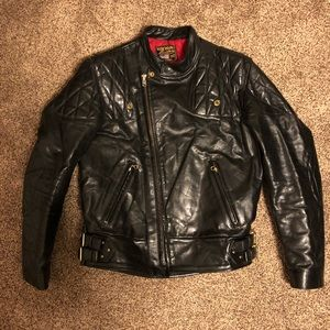 Vanson Men's Leather Jacket - Size M High Quality